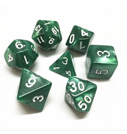 HD Dice 7-Set Pearl Green w/ White (HD)