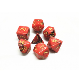 HD Dice 7-Set Blend Red Black w/ Gold (HD)