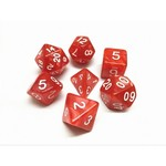 HD Dice 7-Set Pearl Red w/ White (HD)