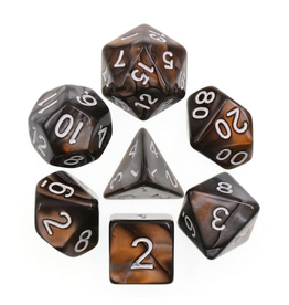 HD Dice 7-Set Blend Gold Black with Silver (HD)