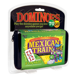 Puremco Dominoes 12 Fun Size  Mexican Train To Go White/Color Numbers (UG)