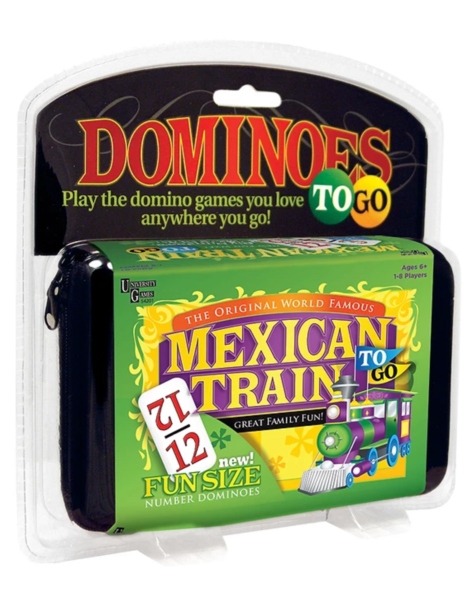 Puremco Dominoes Double 12 Fun Size White/Color Numbers Mexican Train To Go (UG)