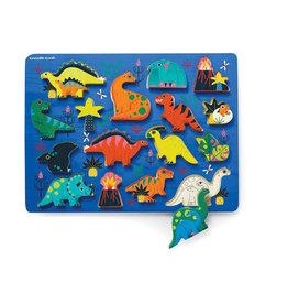 Crocodile Creek Wood Puzzle Dinosaurs 16p