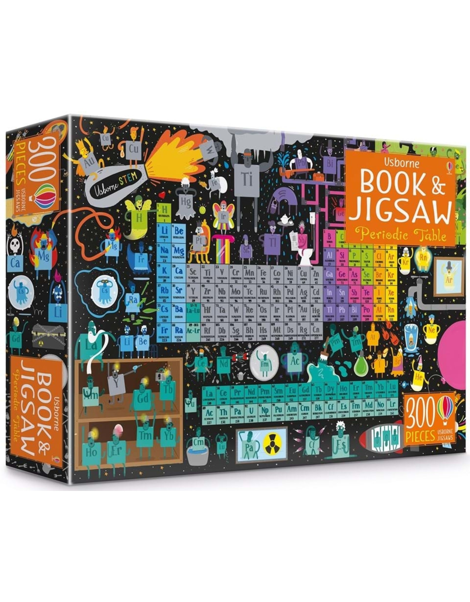Usborne Periodic Table Book & Jigsaw Puzzle (300 pieces)