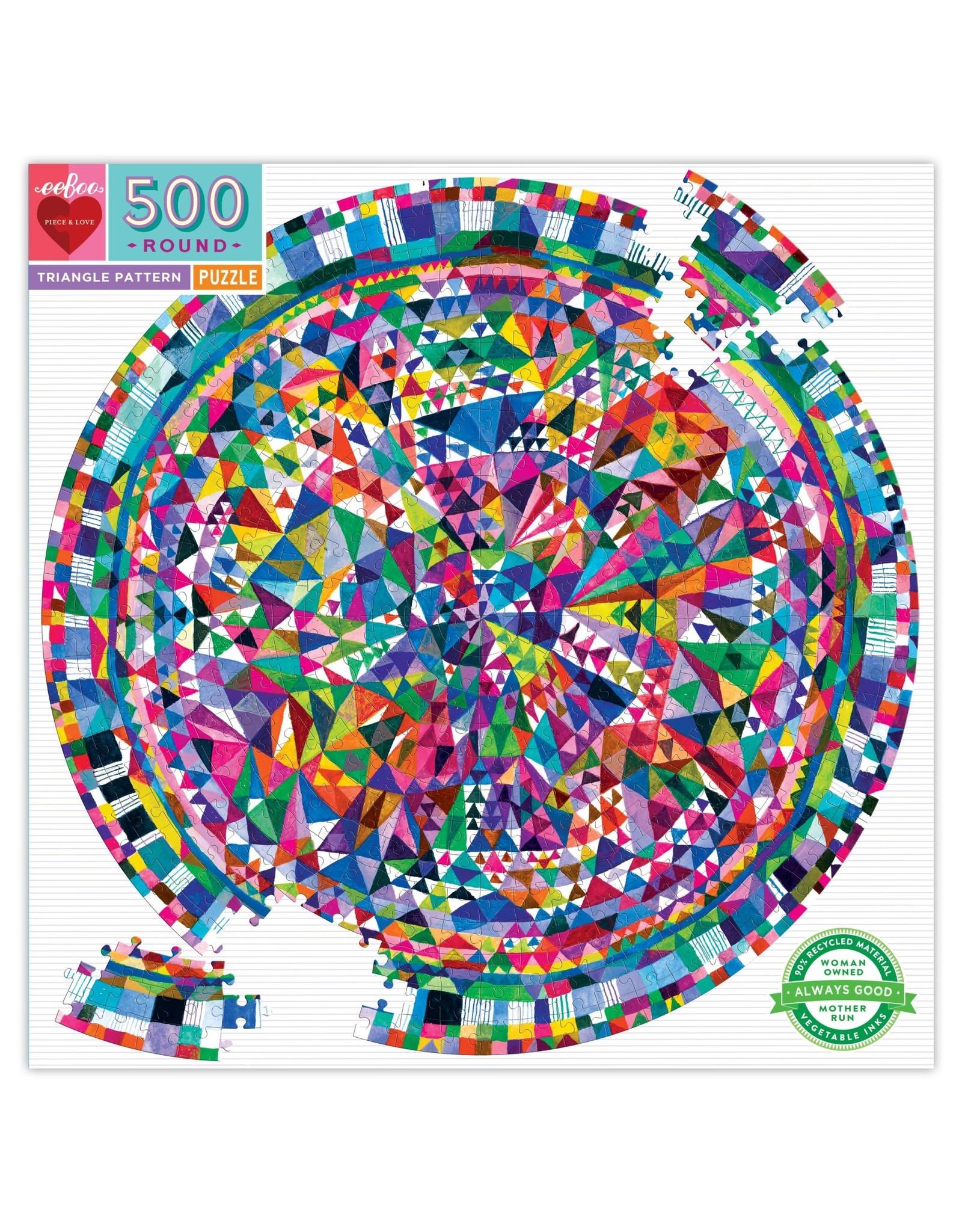 eeBoo Triangle Pattern Round 500p