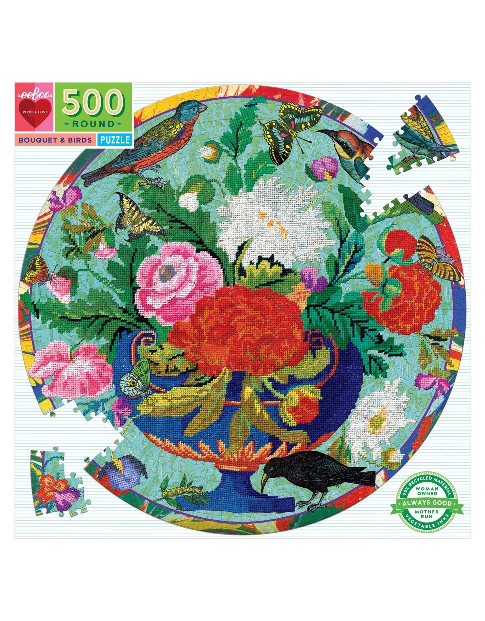 eeBoo Bouquet & Birds Round 500p