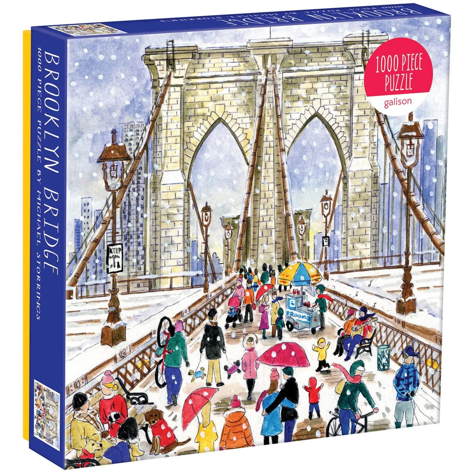 Galison Brooklyn Bridge by Michael Storrings - 1000 Piece Jigsaw Puzzle