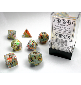 Chessex 7-Set Festive Vibrant/Brown