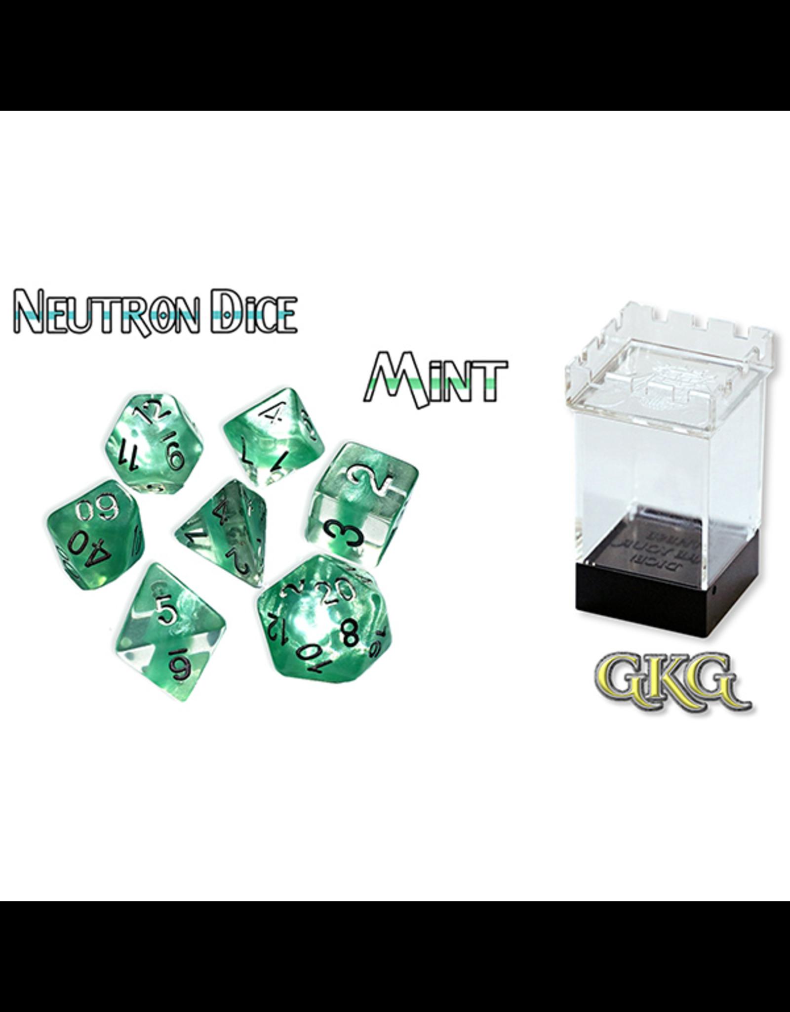 Gate Keeper Games Dice: 7-Set Neutron Mint (GKG)