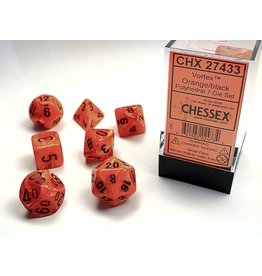 Chessex 7-set Cube VTX ORbk