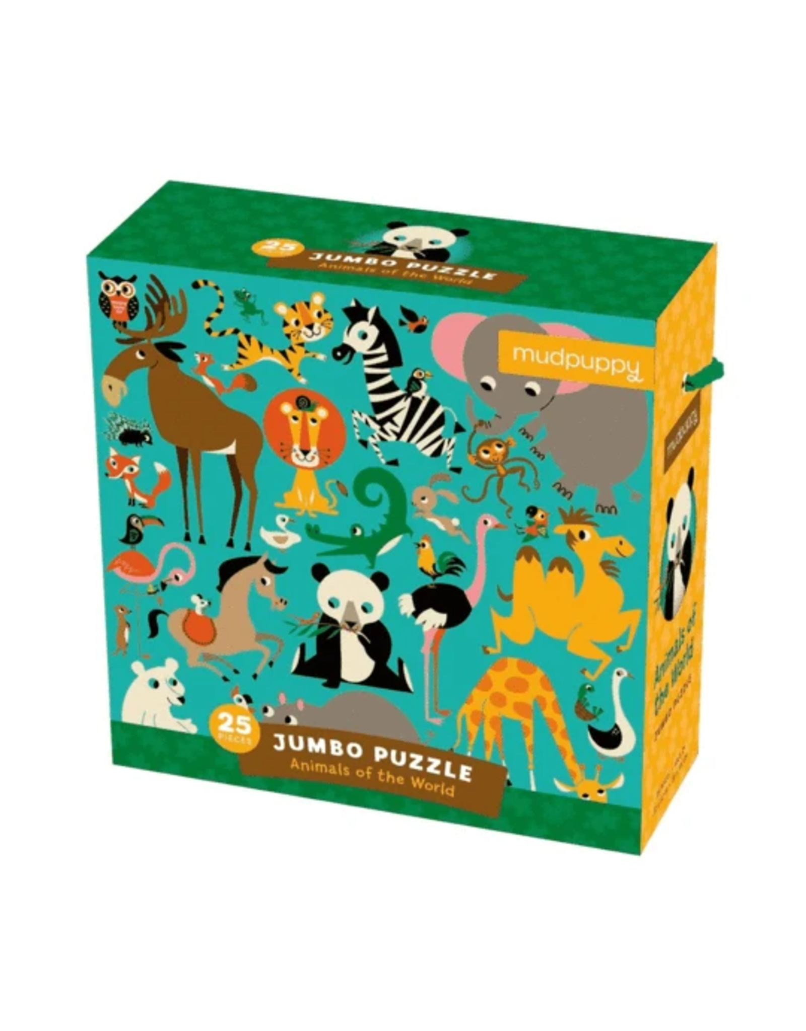 Mudpuppy Animals of the World Jumbo Puzzle 25 Piece