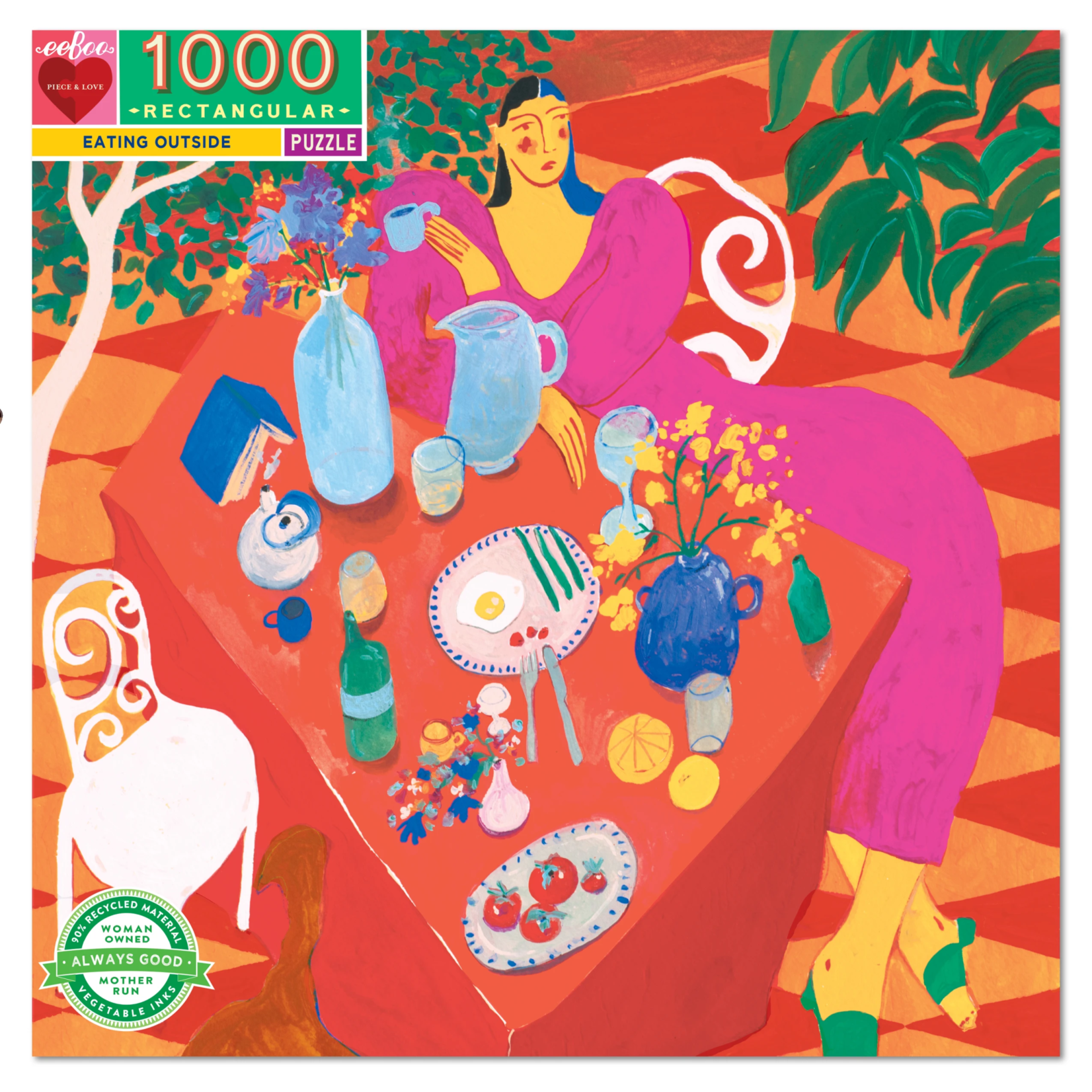 Eeboo Eating Outside  - 1000 Piece Jigsaw Puzzle