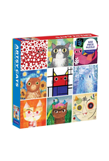 Galison Artsy Cats Family Puzzle 500 Piece