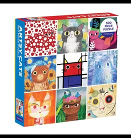 Galison Artsy Cats Family Puzzle 500p