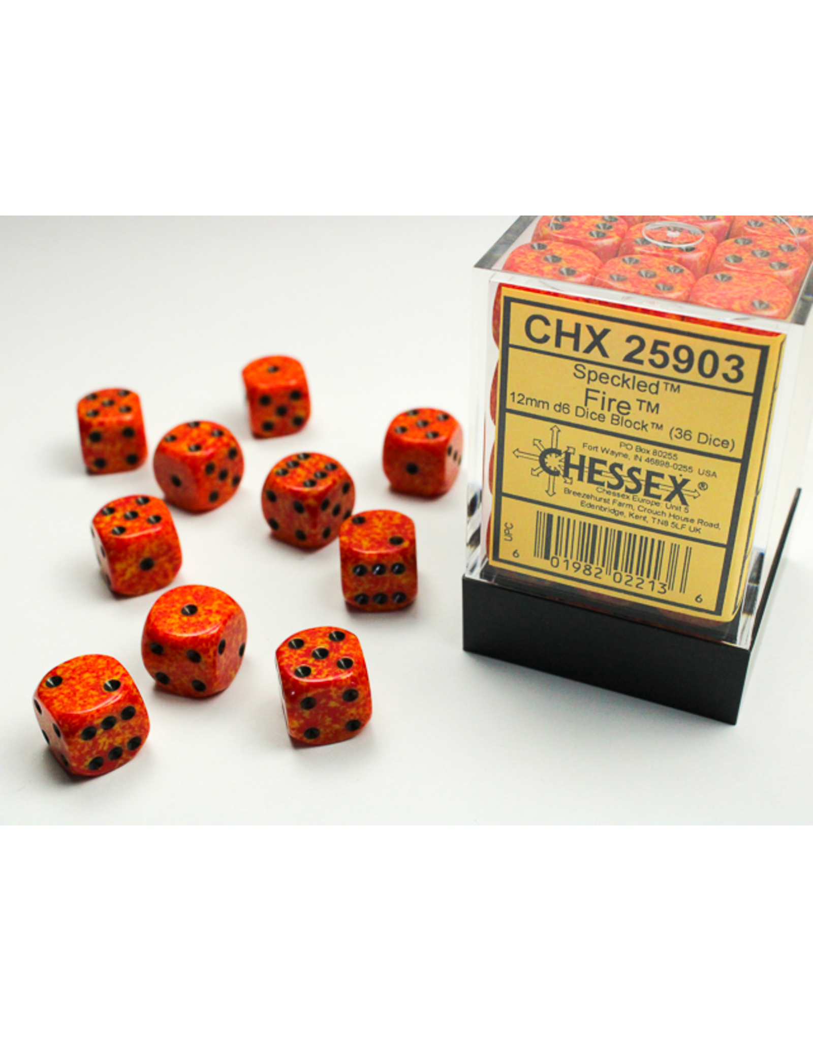 Chessex Dice: D6 Cube 12mm Speckled Fire