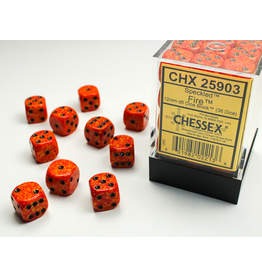 Chessex D6 Cube 12mm Fire