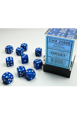 Chessex Dice: D6 Cube 12mm Opaque Blue with White Pips (CHX)