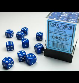 Chessex D6 Cube 12mm OP BUwh