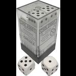 Chessex D6 Cube 16mm OP WhBk