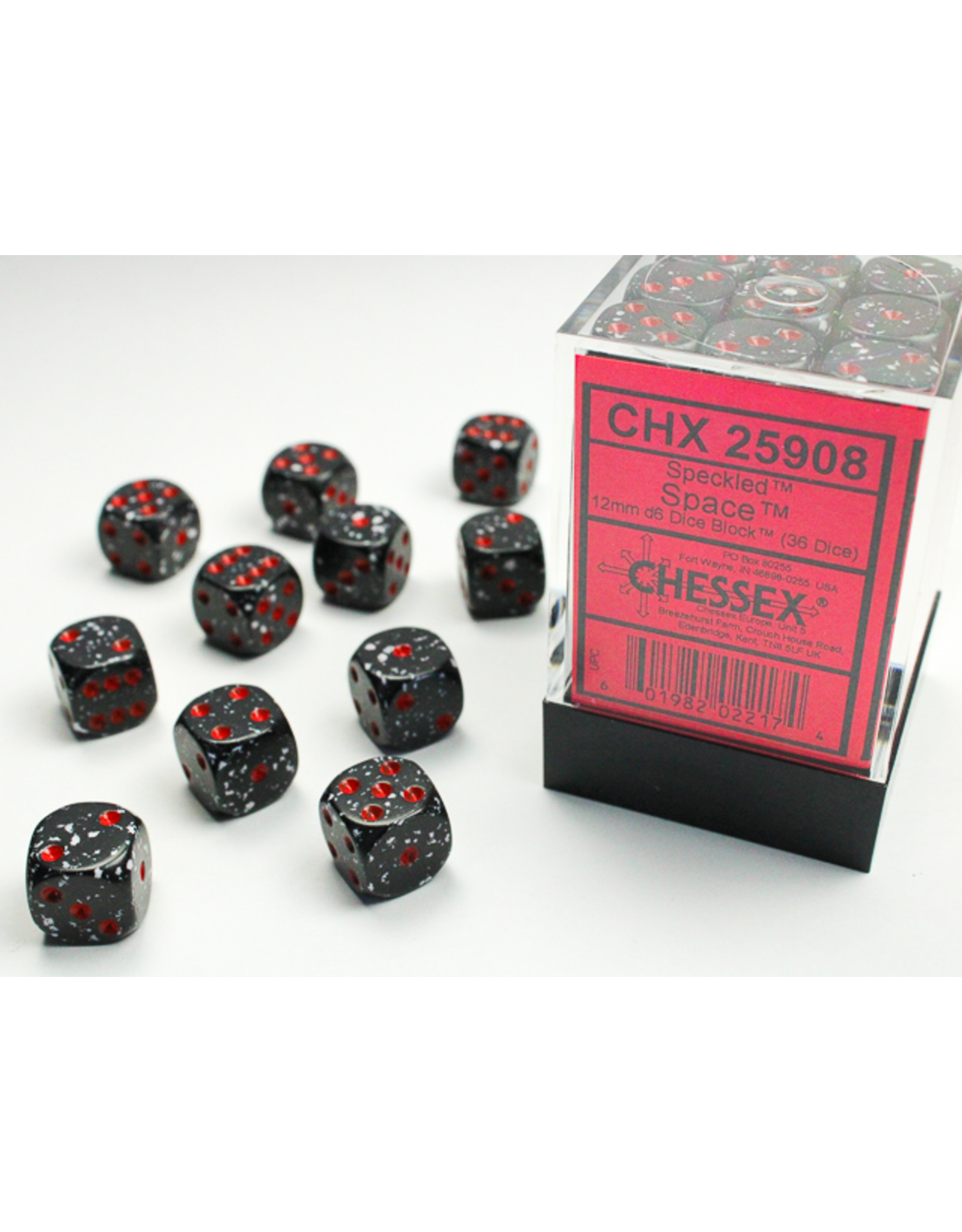 Chessex Dice: D6 Cube 12mm Space (CHX)
