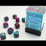 Chessex D6 Cube 12mm Gemini PUTLgd