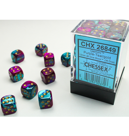 Chessex D6 Cube 12mm Gemini PUTLgd