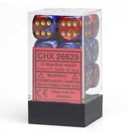 Chessex D6 Cube 16mm Gemini#2 BURDgd