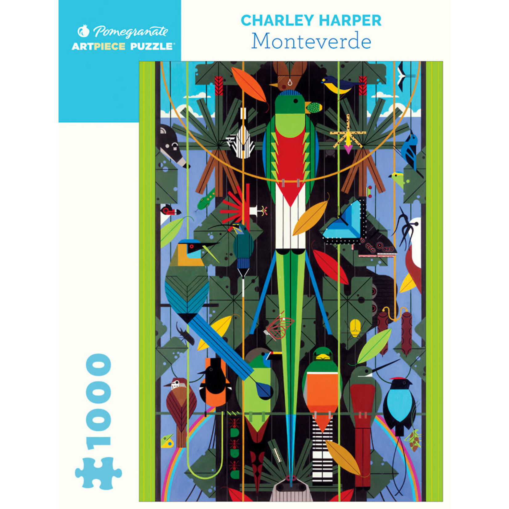 Pomegranate Charley Harper - Monteverde - 1000 Piece Jigsaw Puzzle