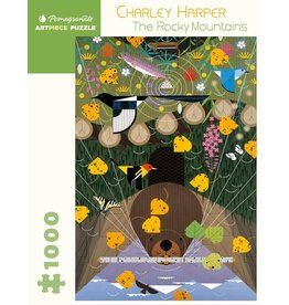 Pomegranate Charley Harper - The Rocky Mountains 1000p