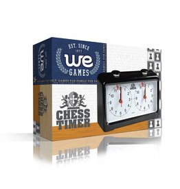 Wood Expressions Chess Clock Black Plastic Analog (WE Games)