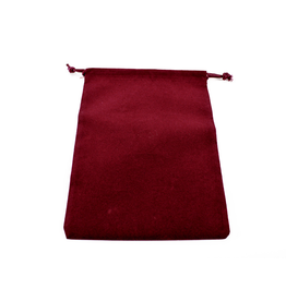 Chessex Dice Bag: Suede Burgundy (L)