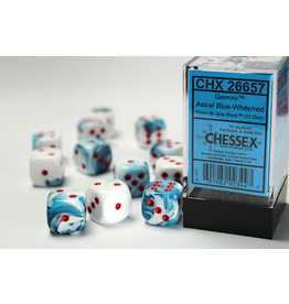 Chessex D6 Cube 16mm AstralBuWhRd