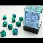 Chessex D6 Cube 12mm Gemini#7 BUTLgd