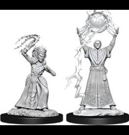 WizKids D&D Minis (unpainted): Drow Mage & Drow Priestess Wave 12, 90071