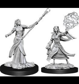 WizKids D&D Minis (unpainted): Elf Sorcerer (female) Wave 12, 90054