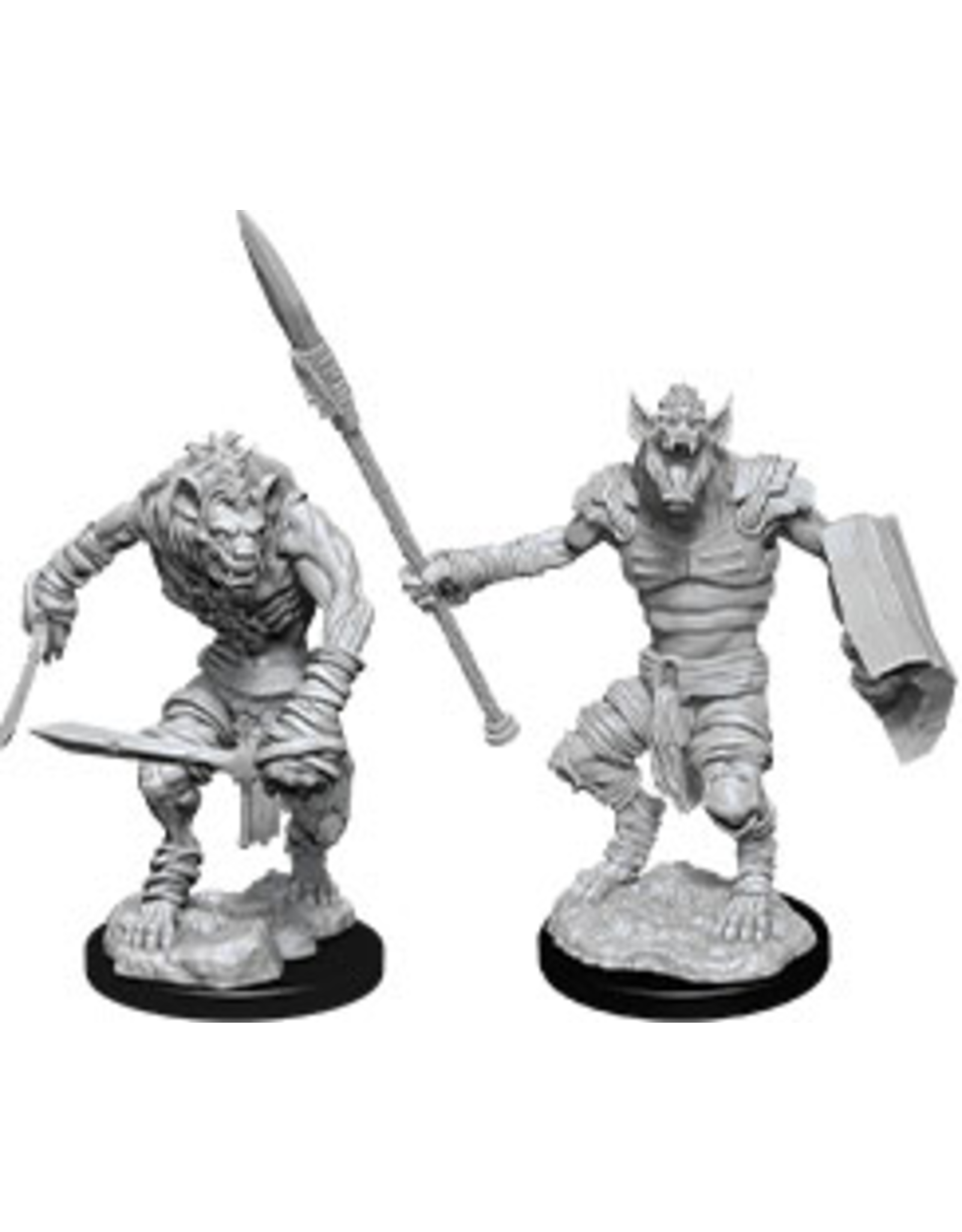 WizKids D&D Minis (unpainted): Gnoll & Gnoll Flesh Gnawer Wave 12, 90066