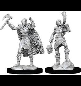 WizKids D&D Minis (unpainted): Human Barbarian (female) Wave 12, 90056