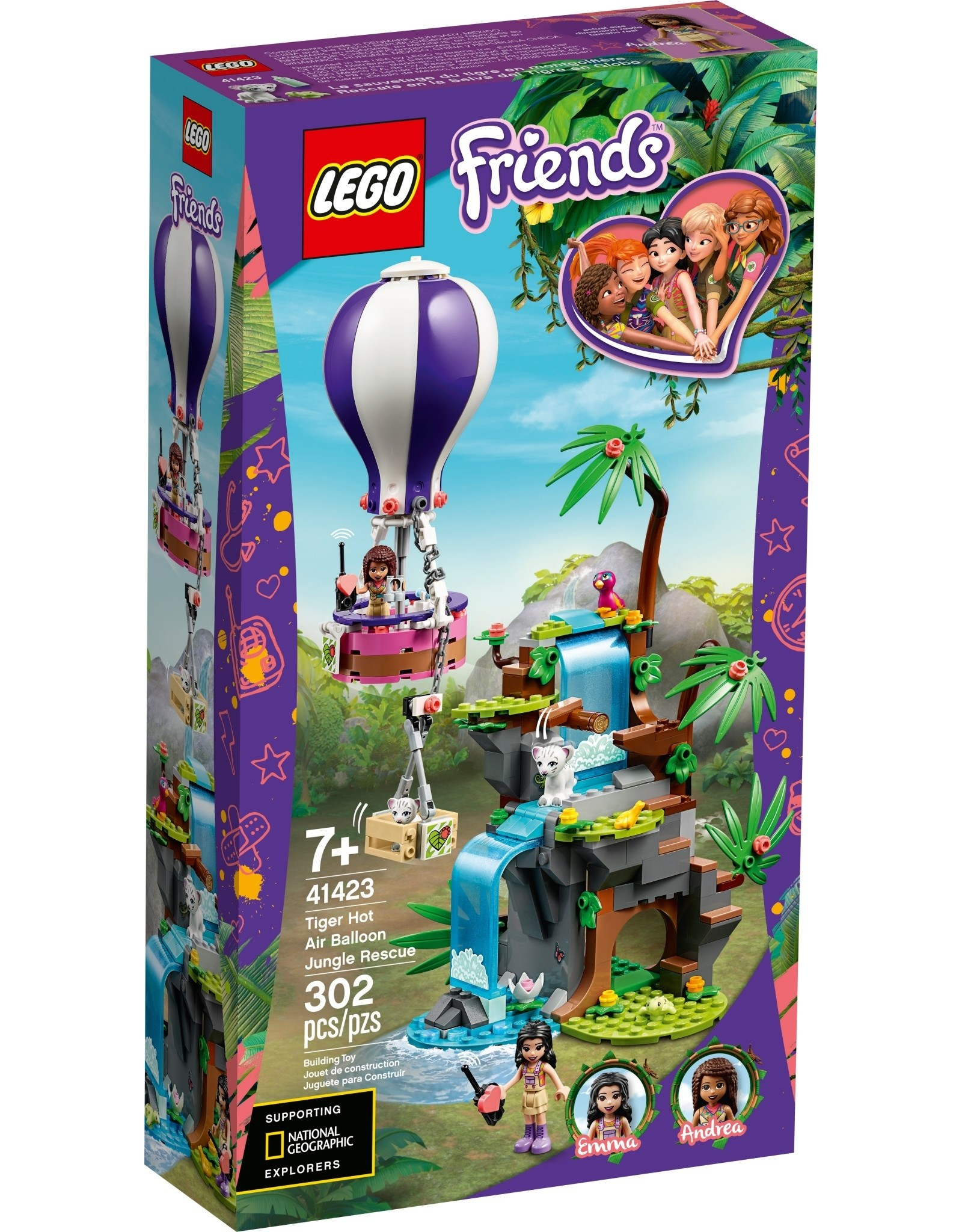 LEGO LEGO Friends Tiger Hot Air Balloon Jungle Rescue