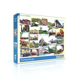 New York Puzzle Company Touring Europe - 1000 Piece Jigsaw Puzzle