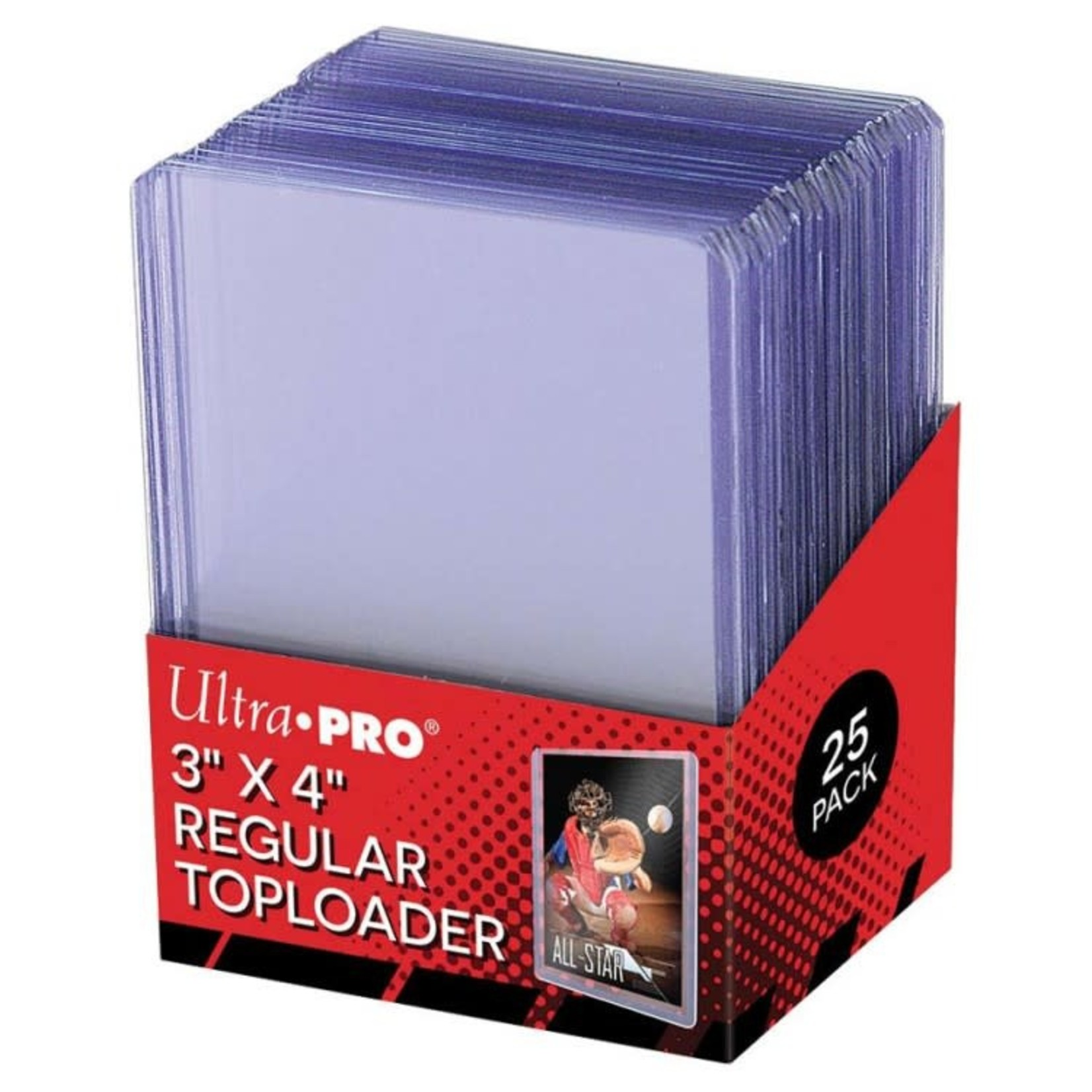 "Ultra Pro Card Protector: TopLoader 3"" x 4"" Regular, 25 ct"