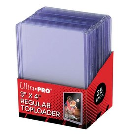 "Ultra Pro Card Protector: TopLoader 3"" x 4"" Regular, 25 ct"