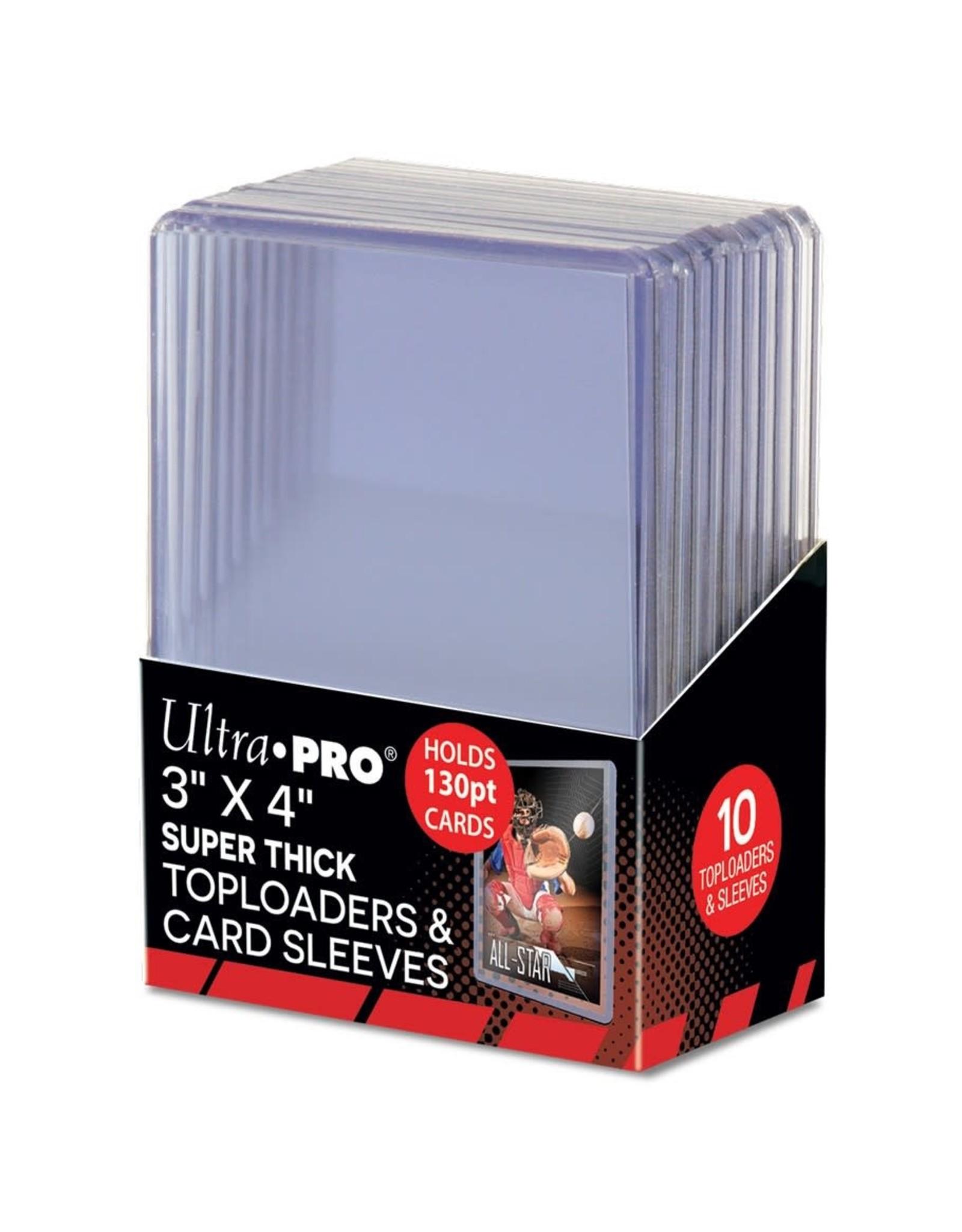 "Ultra Pro TopLoader 3"""" x 4"" 130PT Super Thick, 10 ct."