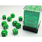 Chessex D6 Cube 12mm Opaque Green/White