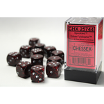 Chessex D6 Cube 16mm Speckled Volcano/Silver