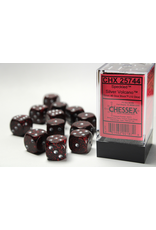 Chessex Dice: D6 Cube 16mm Speckled Volcano with Silver Pips (CHX)