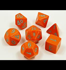 Chessex 7-Set Tube Heavy Orange/Turqoise