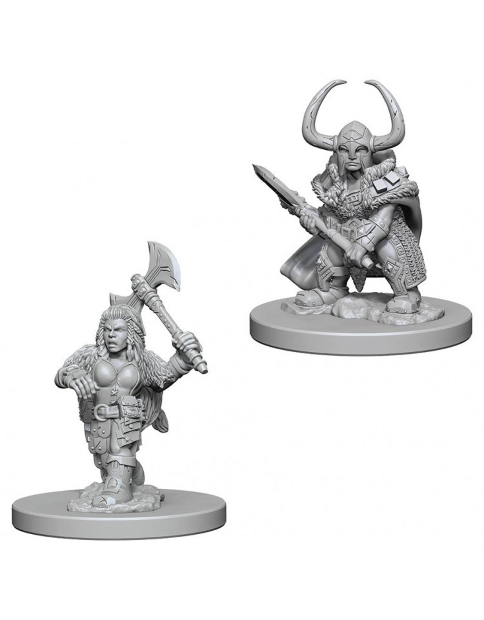 WizKids D&D Minis (unpainted): Dwarf  Barbarian (female) Wave 4, 72645