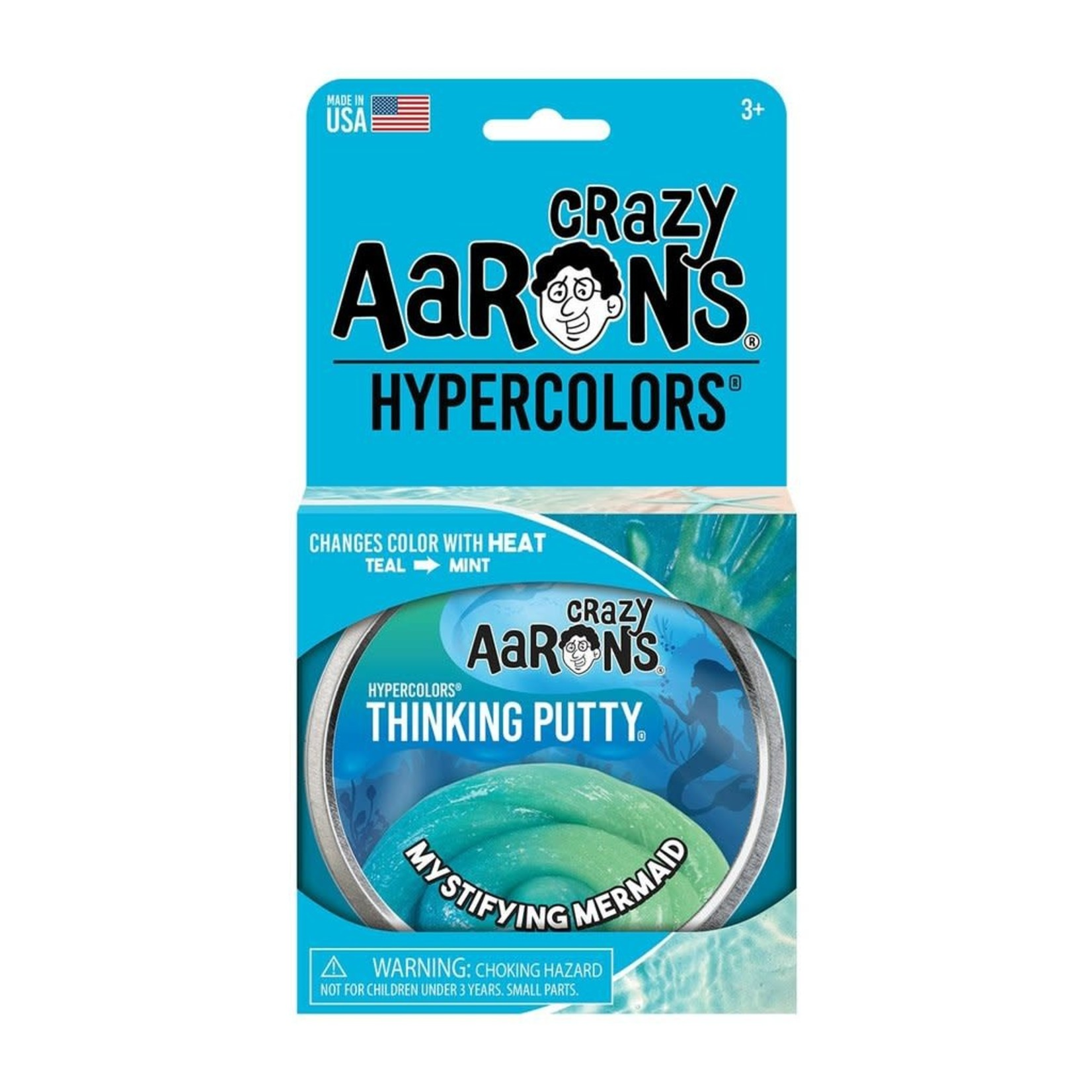 """Crazy Aarons Thinking Putty 4"""" Mystifying Mermaid"""