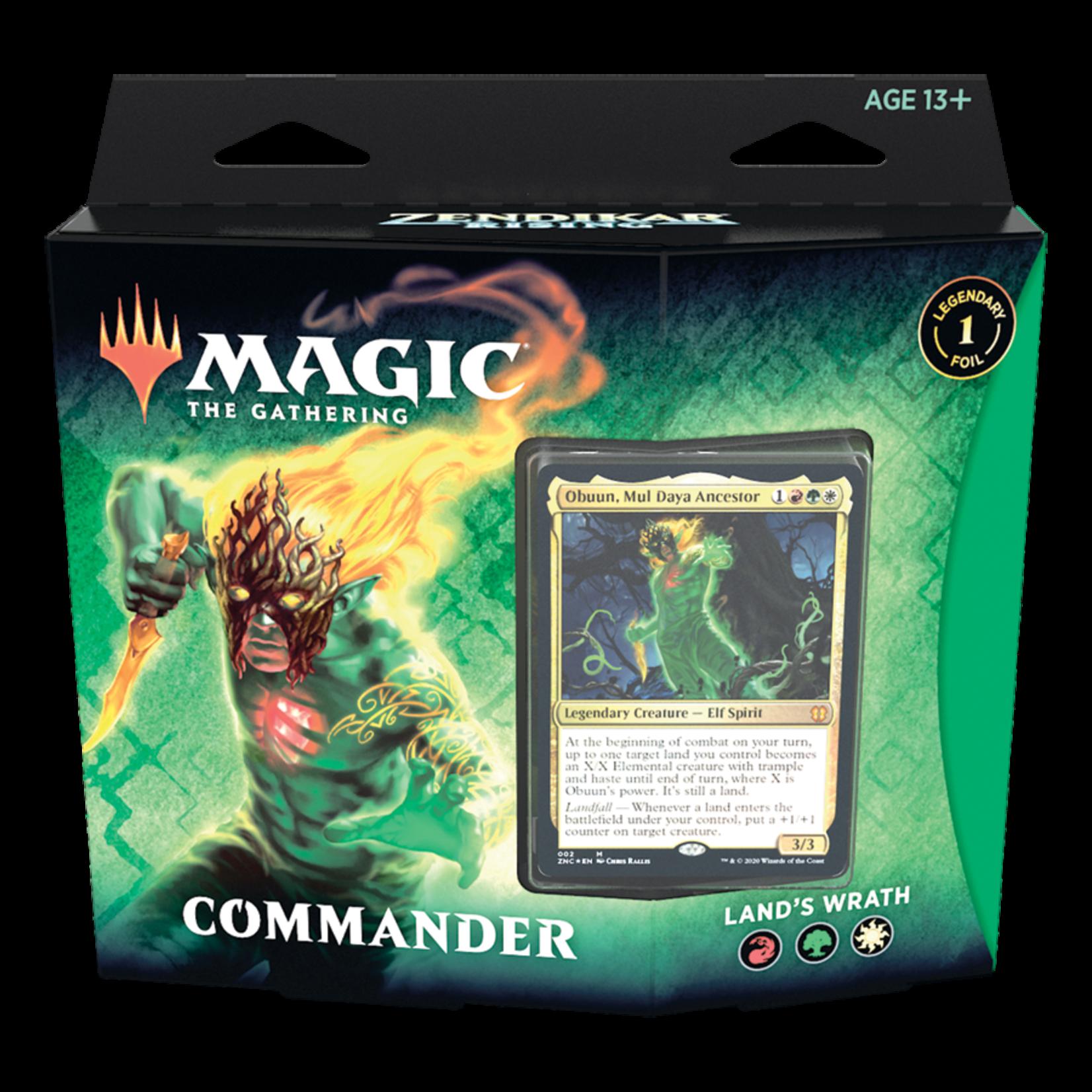 Magic: The Gathering Magic: The Gathering - Zendikar Rising Commander Deck: Land's Wrath