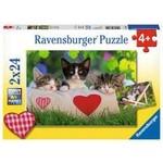 Ravensburger Sleepy Kittens Double Sided 24 - Piece jigsaw puzzle